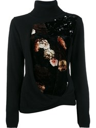 Preen By Thornton Bregazzi Floral Sequin Facade Jumper Black