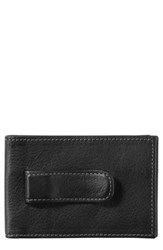 Johnston And Murphy 'S Leather Money Clip Wallet