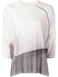 Oyuna Three Quarters Sleeve Boxy Jumper Cashmere White