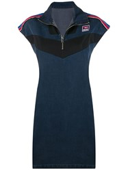 Diesel Joggjeans Dress With Technical Inserts Blue