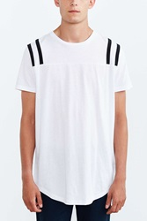 The Narrows Shoulder Stripe Sleeve Tee Black And White