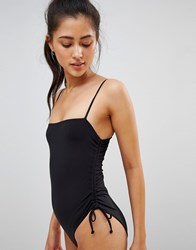 Ivyrevel High Cut Strappy Swimsuit Black