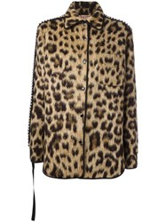 N 21 No21 Leopard Print Jacket Brown