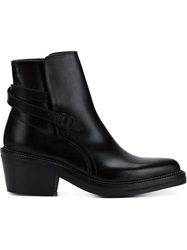 Yang Li Cuban Heel Buckled Boots Black