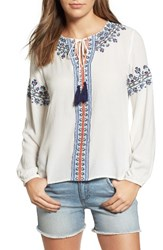 Thml Women's Embroidered Peasant Top