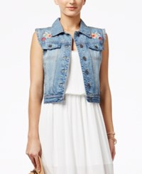 American Rag Juniors' Embroidered Denim Vest Only At Macy's