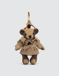 Burberry Thomas Bear Cashmere Charm In Trench Coat Beige