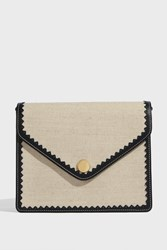 Paul And Joe Octave Flap Canvas Leather Bag Beige