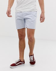 Brave Soul Slim Fit Chino Shorts In Blue