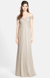 Women's Jenny Yoo 'Willow' Convertible Tulle Gown Alpine