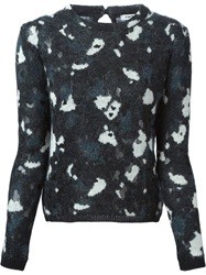 Cacharel Flower Print Sweater Multicolour