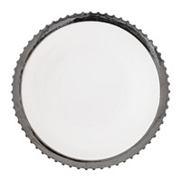 Diesel Living With Seletti Machine Collection Dinner Plate Design 1 Silver