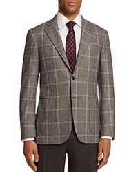 Canali Kei Houndstooth With Windowpane Classic Fit Sport Coat Brown