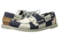 Sebago Spinnaker Navy White Striped Canvas Women's Lace Up Casual Shoes