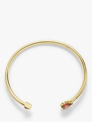Kate Spade New York Cubic Zirconia Heart Open Bangle Gold Ruby