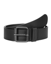 Carhartt Black Script Leather Belt