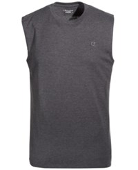 Champion Men's Jersey Muscle Tank Granite Heeather