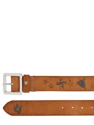 Htc Hollywood Trading Company 40Mm Ethnic Embossed Leather Belt Brown Multi