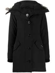 Canada Goose Padded Hooded Coat Black