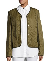 Rag And Bone Quilted Forest Liner Jacket Olive