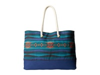 Pendleton Printed Canvas Tote Aegean Tote Handbags Blue