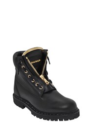 Balmain 20Mm Taiga Perforated Leather Boots
