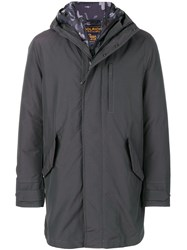 Woolrich Padded Jacket Cotton Feather Down Polyamide Polyester S Grey