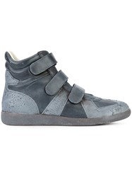 Maison Martin Margiela Contrast Panel Boots Men Calf Leather Rubber 44 Grey