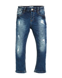 Mayoral Straight Leg Loose Distressed Jeans Blue
