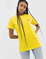 Adolescent Clothing Sad Face T Yellow
