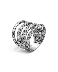 John Hardy Sterling Silver Classic Chain 4 Band Ring
