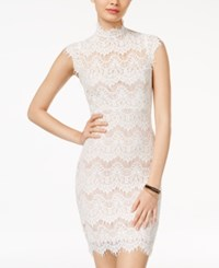 Jump Juniors' Open Back Lace Bodycon Dress Ivory Taupe