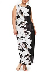 Evans Plus Size Floral Maxi Dress Black