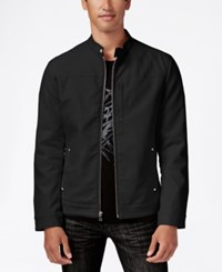 Inc International Concepts Men's Lukas Faux Leather Jacket Only At Macy's Black