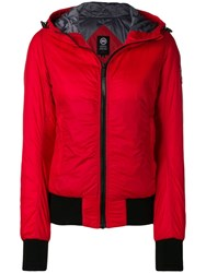 Canada Goose Fitted Puffer Jacket Red
