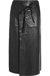 Isabel Marant Candy Leather Wrap Skirt Black