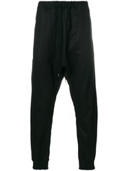 Individual Sentiments Drop Crotch Sweat Pants Cotton Nylon Polyurethane Wool Black