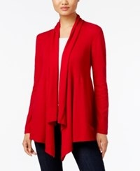 Styleandco. Style Co. Ribbed Open Front Cardigan Only At Macy's New Red Amore