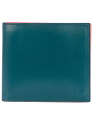 Paul Smith By Classic Bi Fold Wallet Unisex Leather One Size Green