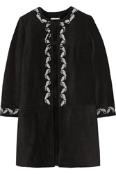 Alexa Chung For Ag Jeans The Walker Embroidered Suede Coat