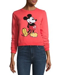 Marc Jacobs Mickey Mouse Crewneck Sweatshirt Red