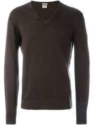 Massimo Alba V Neck Sweater Brown