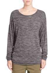 Set Melange Long Sleeve Tee Dark Grey