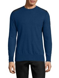 Belstaff Kilnwood Crewneck Sweater Faded Indigo