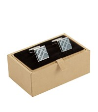 Burberry Shoes And Accessories Check Cufflinks Unisex Blue