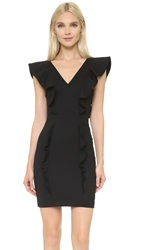 The Kooples Ruffle Sleeve Dress Black