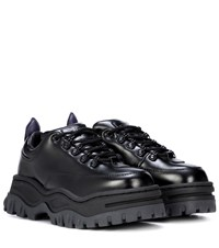 Eytys Angel Platform Leather Sneakers Black