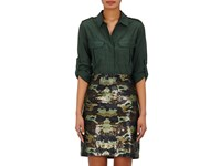 L'agence Women's Alek Voile Safari Shirt Dark Green