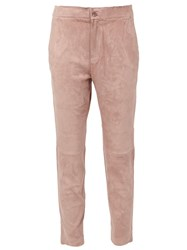 Stouls Cropped Trousers Pink And Purple