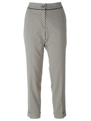Etro Geometric Print Cropped Trousers Black